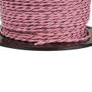 Lautsprecherkabel verdrillt 0,75qmm (OFC) Kupfer Rosa