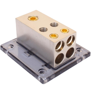 Verteilerblock 50 mm²  - 4x 25 mm² Gold Loock