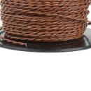 Lautsprecherkabel verdrillt 1,5 qmm (OFC) Kupfer Braun
