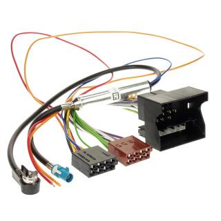 Autoradio Adapterkabel Quadlock + Fakra ISO Antenne Phantomeinspeisung für OPEL