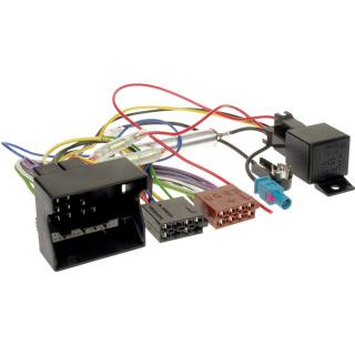 Autoradio Adapterkabel Quadlock + Fakra ISO Antenne und Relais für OPEL Corsa Astra Vectra