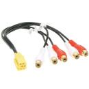 MINI ISO 5 KANAL Auto Radio Adapter Kabel auf Cinch