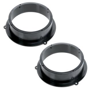 16,5cm Lautsprecher Adapterringe für Audi A4 / Q5 Tür hinten
