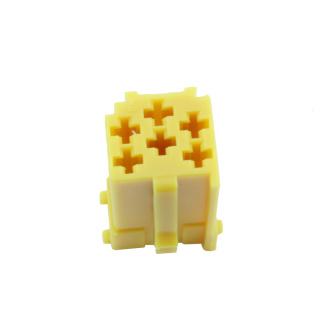 Mini ISO Stecker Leergehäuse 6 Polig Gelb