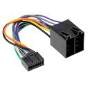 Auto Radio Adapterkabel ISO auf Kenwood 16 Polig 22x10mm