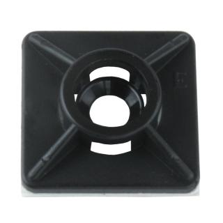Kabel Binder Montage Sockel Platte schwarz selbstklebend Stück 19x19mm