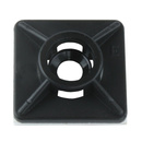 Kabel Binder Montage Sockel Platte schwarz selbstklebend...