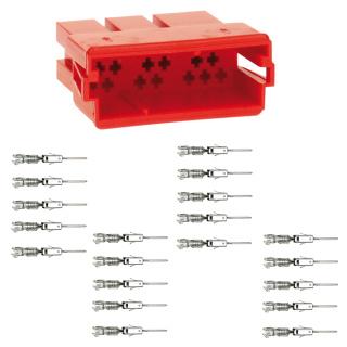 Mini ISO Buchse Leergehäuse 20 Polig inklusive 20 Stück Micro Stiftkontakte