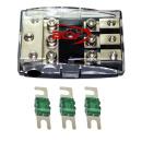 3-fach Auto Stromkabel Sicherungsverteiler + 125A Sicherungen