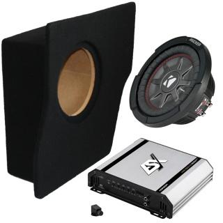 Bass Set 20cm Subwoofer Kicker CWRT81 + Auto Verstärker ESX HXE1000.1D für VW Golf 3