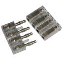 Lautsprecher Verbinder 4-polig bis 4 qmm Nickel-Satin