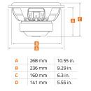 Hertz MILL Pro MP250-D2.3 Subwoofer 25cm