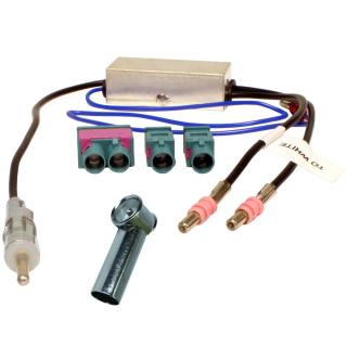 Antennenadapter 2 Einzel oder Doppel Fakra auf ISO / DIN Radio