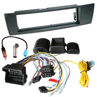 Auto Radio Einbauset BMW mit LFB CAN Bus PDC Adapter und erhaltung der Warntöne